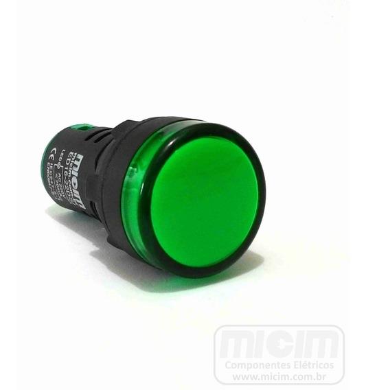 Sinaleiro Led Verde 22mm 12v (micim) - 28 Unidades