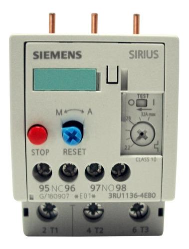 Relé Térmico Bimetalico Siemens 22.0-32.0 Amp 3ru1136-4eb0