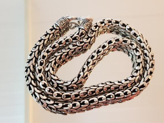 Corrente/colar Prata De Bali De 116g E 50cm