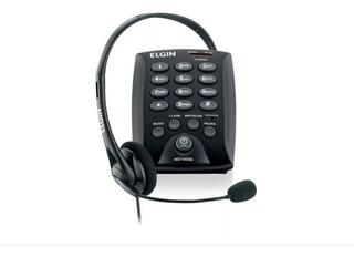 Aparelho Telefonico Headset Hst-6000 Com Flash Preto Elgin