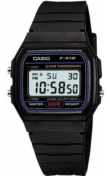 Relógio Casio F-91 W Original Série Prata