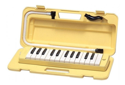 Imagen 1 de 10 de Pianica Flauta Melodica Yamaha P25f Yellow Amarilla