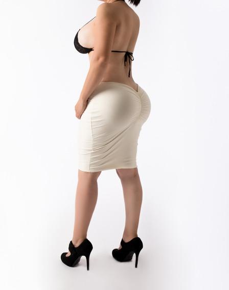 Falda Licra Corte Mariposa Colombiano Resalta Pompis Sexy