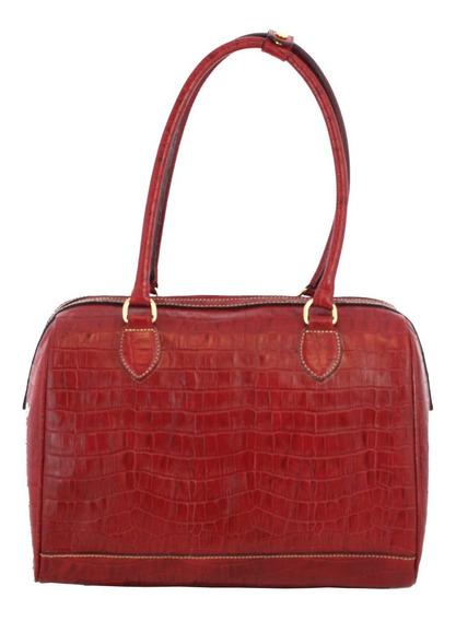Bolsa Feminina Bau Smart Bag Croco Couro Legítimo 75282
