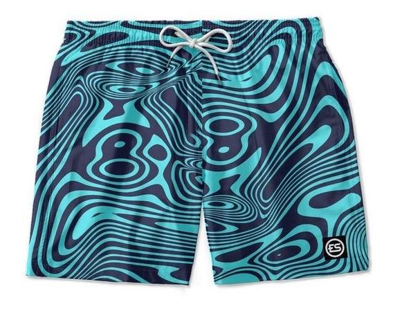 Short Bermuda Moda Praia Mauricinho Listras Ref Lx-2018