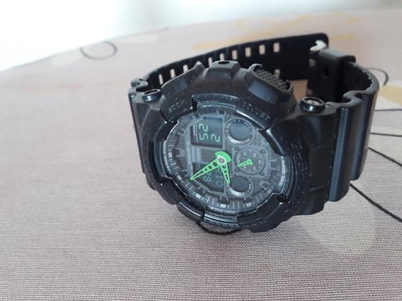 Relógio G-shock Ga 100 Fundo Verde Original
