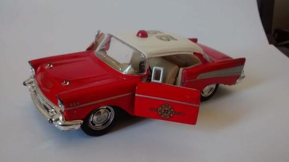 Miniatura Chevrolet Belair 1/40 1957 Fire Depart. Fricção