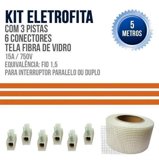 Kit Eletrofita 15a Três Pistas Equivalente 1,5mm - 5 Metros