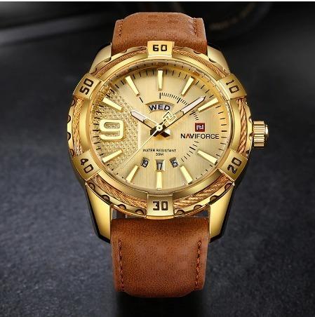 Naviforce Top De Luxo Da Marca Homens Relógio De Ouro De Cou
