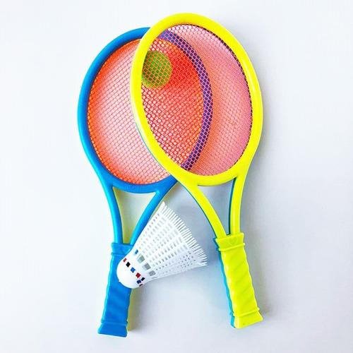 Aceshop Raquetas Badminton Ni/ños Raquetero Tenis Racket Raqueta de Juguete Deportivo B/ádminton Playa al Aire Libre Azul