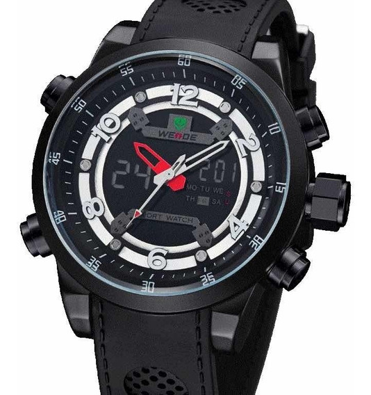 Relógio Esportivo Weide Original Luxo Militar Calendário
