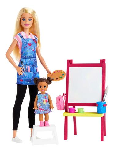 Barbie Careers, Maestra De Arte Rubia Con Alumna