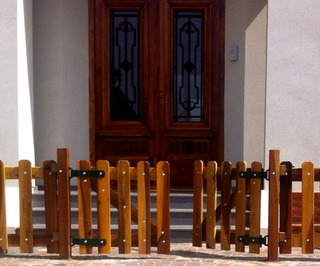 Puertas En Madera Dura Para Exterior Pileta 1 X 1 M Cepillad