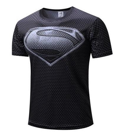 Playera Hombre Lycra Gimnasio Sport Superman Liga De La Just
