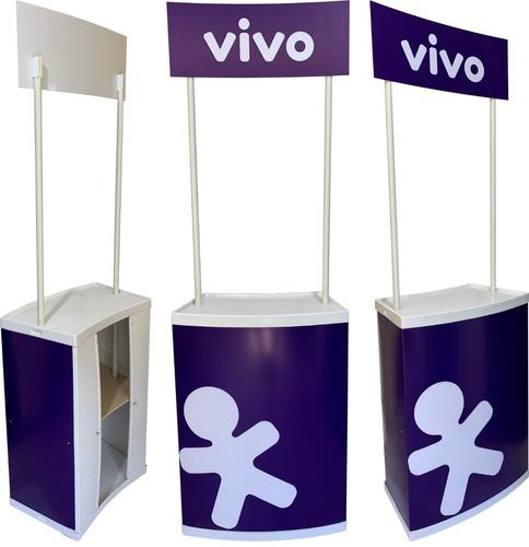 Balcão Promocional Pvc Desmontável Degustação Pdv Stand
