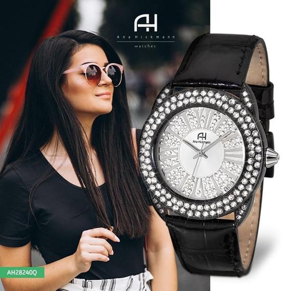 Relógio Feminino Ana Hickmann Analógico Ah28240q Preto