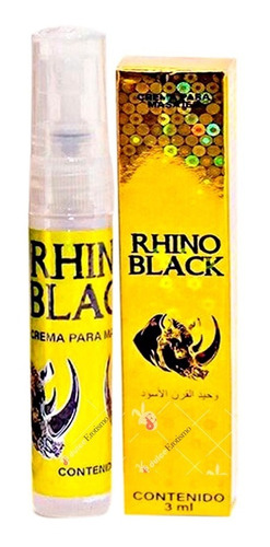 Imagen 1 de 7 de Rhino Dorado Retardante Sexual Spray Masculino 100% Original