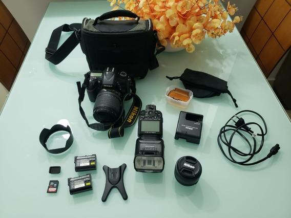 Câmera Nikon D7100 +18-105mm + Lente 50mm+flash+cartão+bolsa