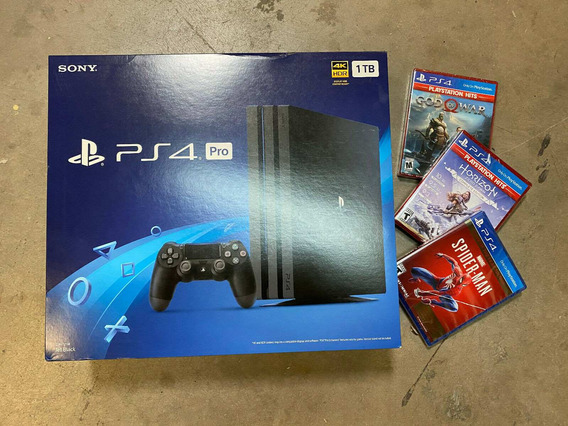 Playstation 4 Pro 1tb Consola 4k Ps4 Pro + Juegos