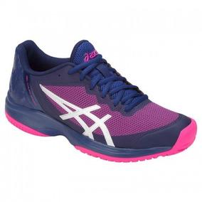 Tenis Asics Gel Court Speed Azul Rosa