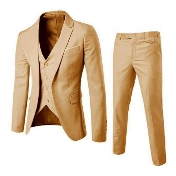 Terno Masculino Slim Importado Blazer + Calça + Colete