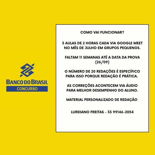 Aulas De Redação Concurso Banco Do Brasil