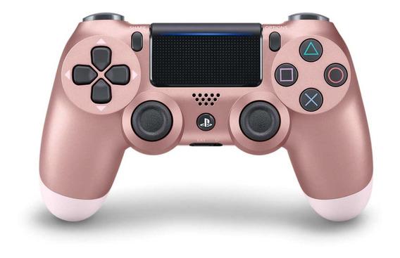 Controle Sem Fio Dualshock 4 Sony Para Ps4 Rosa Dourado