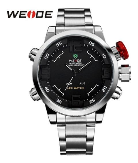 Relógio Weide Luxo, Analógico E Digital, Prova D