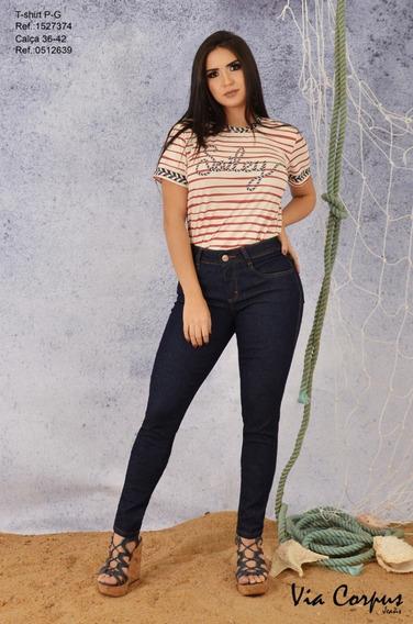 Calça Feminina Jeans Skinny Via Corpus