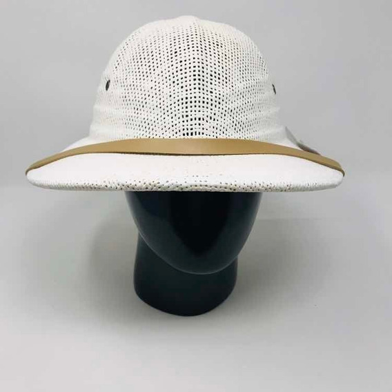 Sombrero Cazador Safari Tipo Salacot Ajustable Rocha Blanco