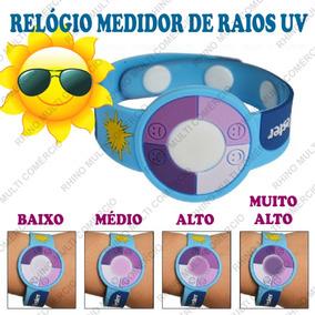 Pulseira Teste Raios Uv Ultra Violeta Solar Verão