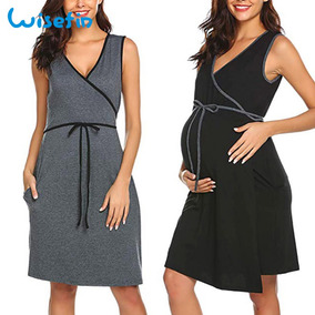 c64cb563e Vestido Negro Oficina Embarazo - Vestidos Gris oscuro en Mercado ...