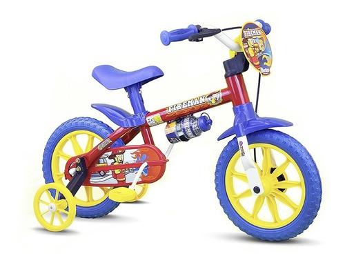 Bicicletas Baccio Fireman Rodado12 Niño Roja/azul  - Fama