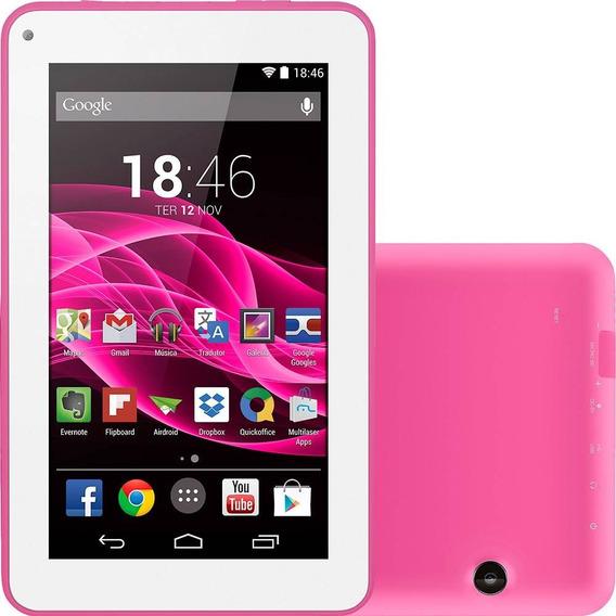 Tablet Multilaser M7s 8gb Nb186 - Rosa + Nf