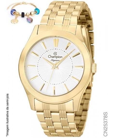 Relógio Champion Analógico Cn25378s Feminino + Semijoia