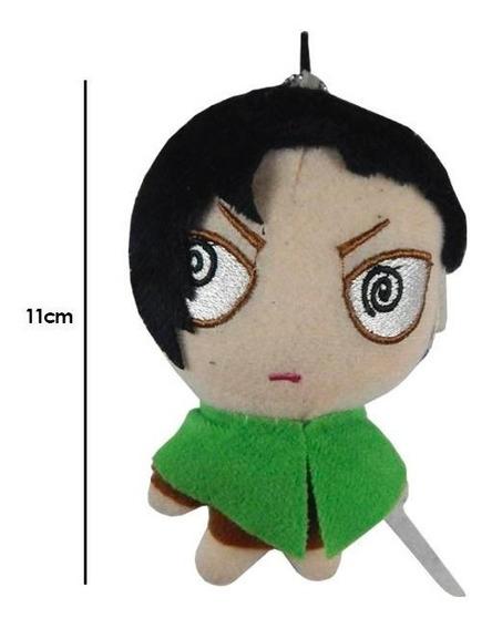 Shingeki No Kyojin Attack On Titan Peluche Llavero Levi 11cm