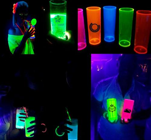 Imagem 1 de 4 de 80 Copos Long Drink 330ml Personalizados Neon