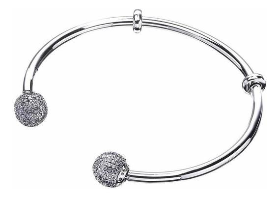 Bracelete Evolution Ponteira Cravejada Prata 925 Est Pandora