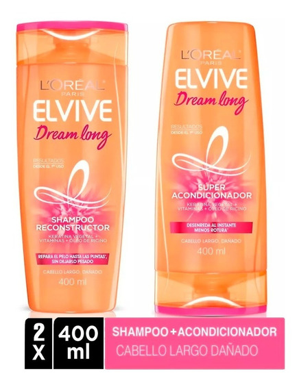 Pack 1 Shampoo Elvive Dream Long 400ml + 1 Aco 400ml Loreal