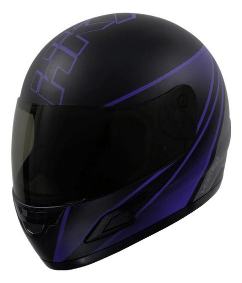 Casco para moto integral Vértigo HK7 violeta mate talle XL