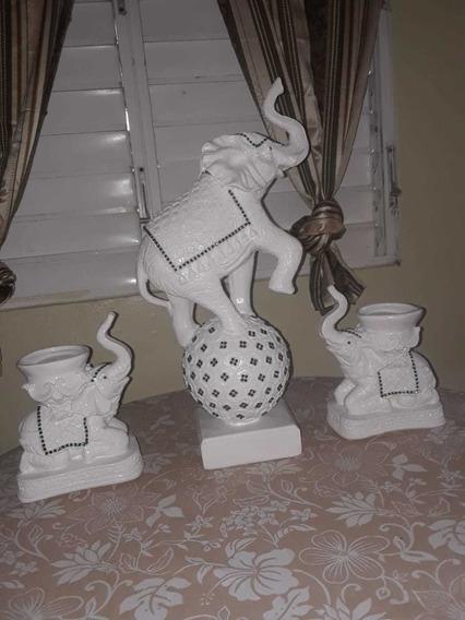 Familia De Elefantes Cerámicos
