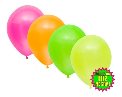 Imagem 1 de 4 de Balão Bexiga De Neon Nº9 - Com 30 Unidades