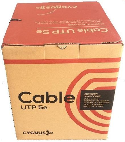 Cable Utp Cat5e 100% Cobre Bobina 305m Cygnus (utp-cobre)