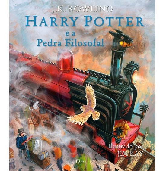 Harry Potter E A Pedra Filosofal - Ilustrado