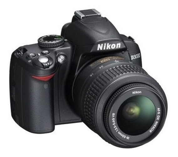 Câmera Nikon D3000 C/ Lente 18-55mm E Acessórios