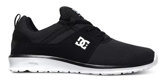 Zapatillas Hombre Negro Blanco Dc Shoes Heathrow Originales