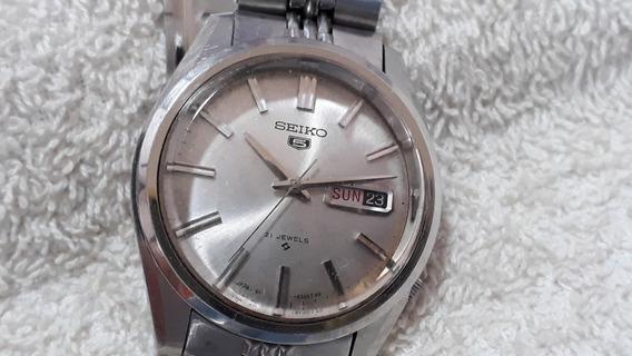 Relógio Seiko 6119, Masculino, Lindo, Anos 70 (prt) !