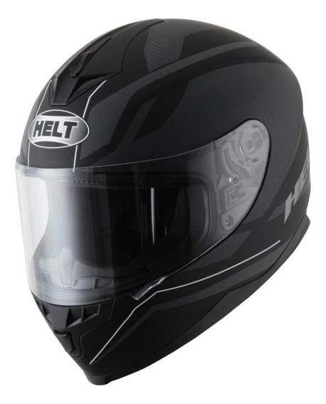 Capacete para moto integral Helt Street New Race Preto Fosco tamanho 58