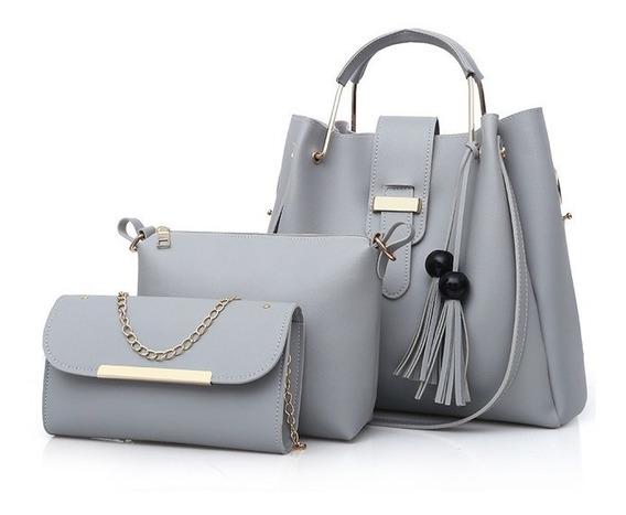 Bolsa Feminina Kit Conjunto 3 Peças Varias Cores Lindas Luxo