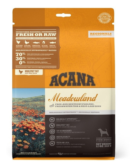 Acana Regionals Meadowland 340 Gr Alimento Para Perros